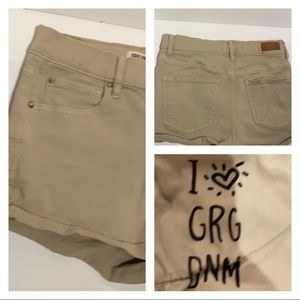 (3) Garage Denim Tan High Rise Shorts-EUC !!!